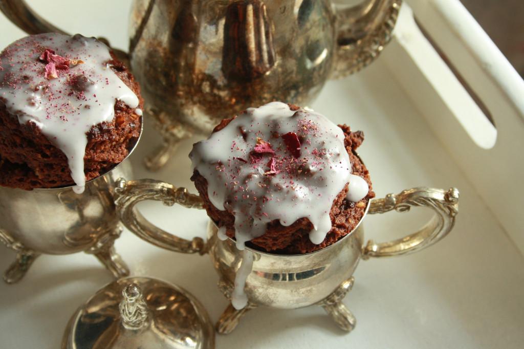Mini Muffins mit Blütenstaub vegan