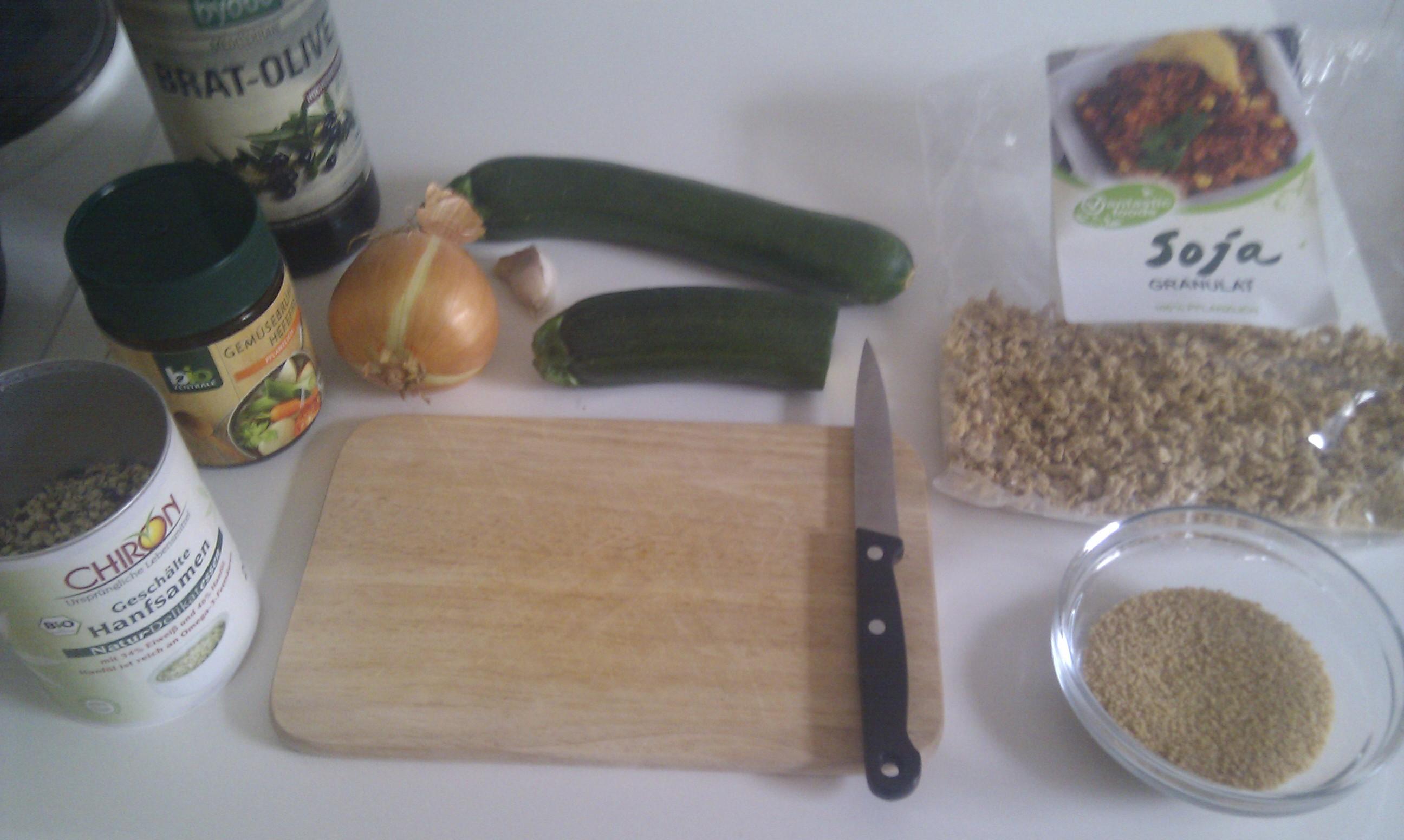 Zutaten Zucchini Couscous Topf