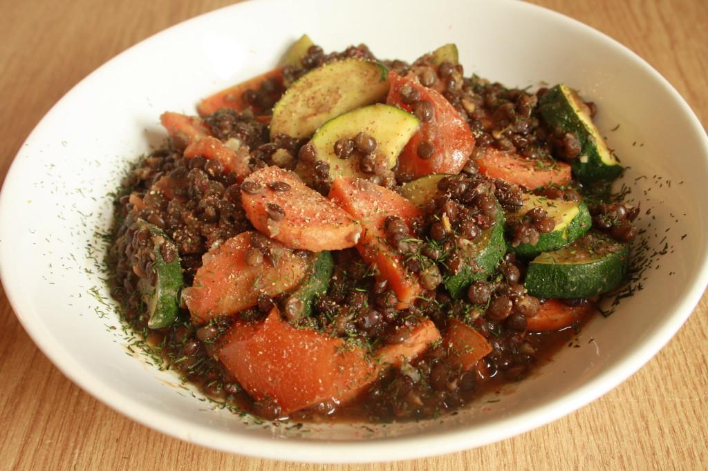 Rezept// Schwarze Linsen Gemüse Pfanne [vegan]