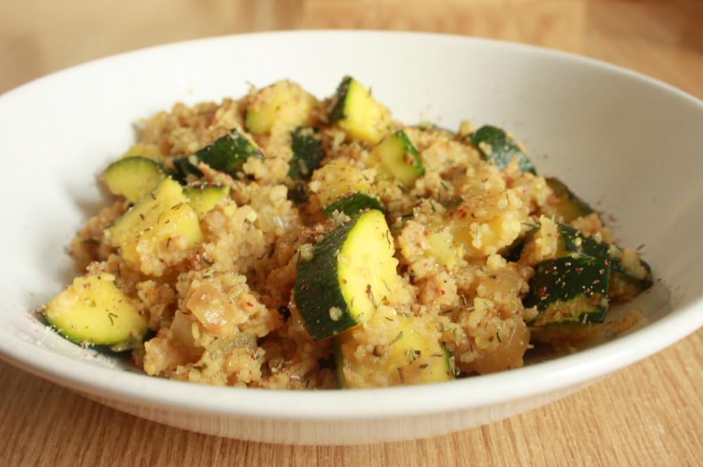 Zucchini Couscous Topf