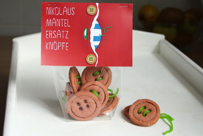 DIY Rezept Knopf Kekse Nikolaus Geschenk