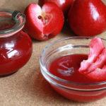Rezept// Roter Apfelmus aus rotfleischigen Äpfeln [vegan]