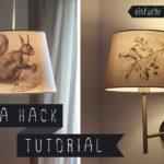 DIY// Aufkleber für Lampenschirm mit Transfertechnik (IKEA HACK)