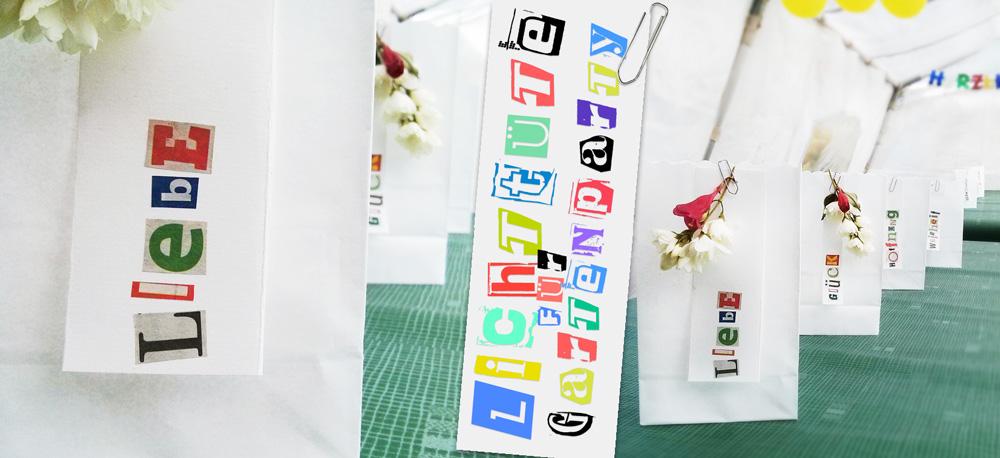 DIY Lichttüte mit Wünschen