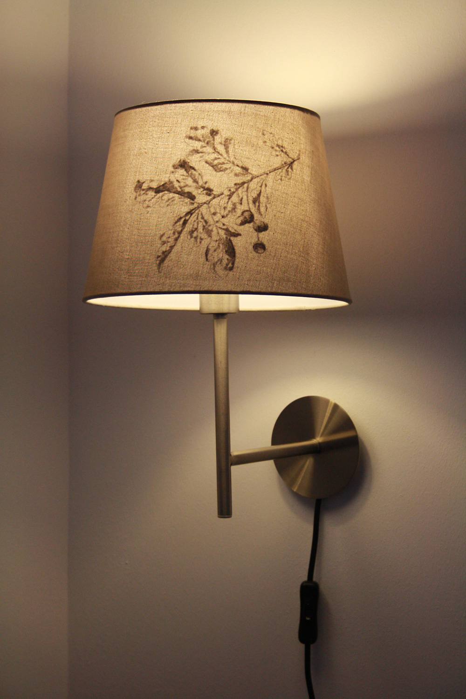 DIY IKEA HACK Transfertechnik Lampenschirm JÄRA vintage Eichhörnchen