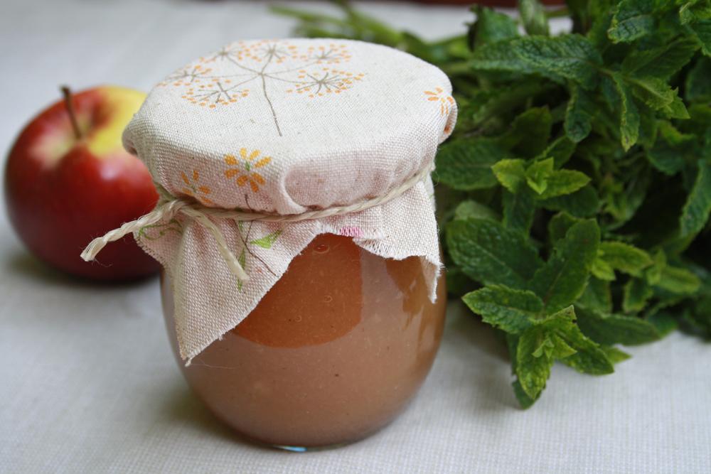 Rhabarber Minze Marmelade vegan