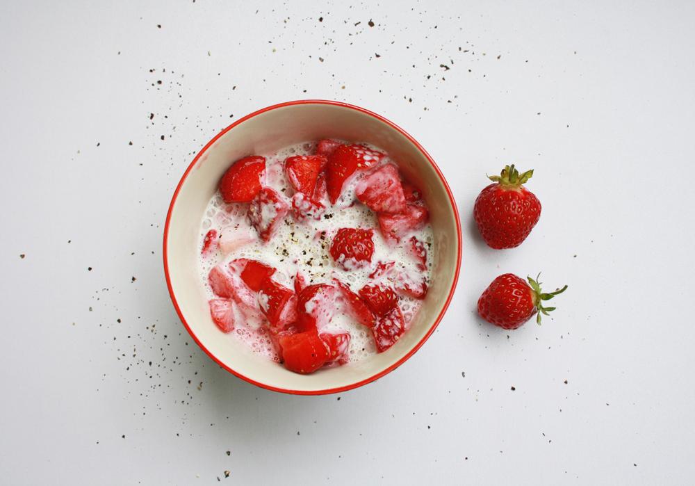 Erdbeere Sahne Pfeffer