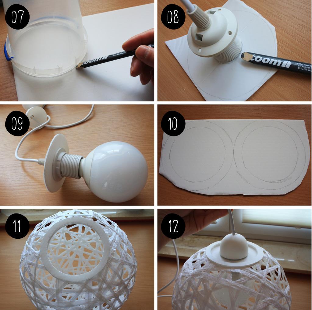 diy// wie du eine faden-lampe perfekt rund hinbekommst