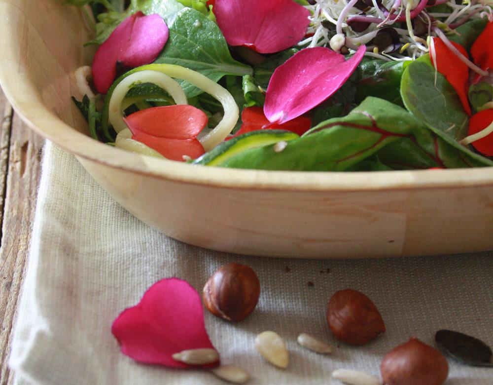 Essblumen Salat Edeka