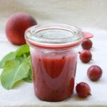 Rezept// Stachelbeer-Pfirsich-Sauerampfer-Marmelade