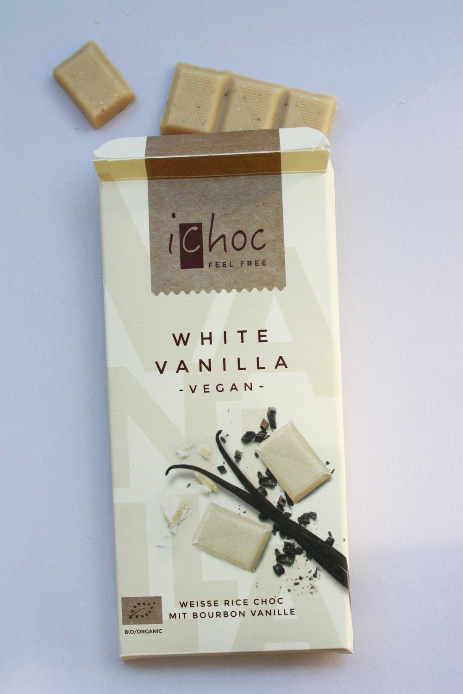 Weisse Schokolade vegan White Vanilla von ichock