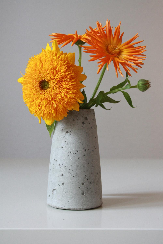 Beton Zement Vasen rund Kerzenständer Kerzenhalter