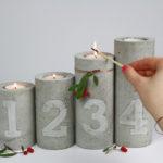 DIY// Beton & Kupfer Kerzenhalter mit Prägung