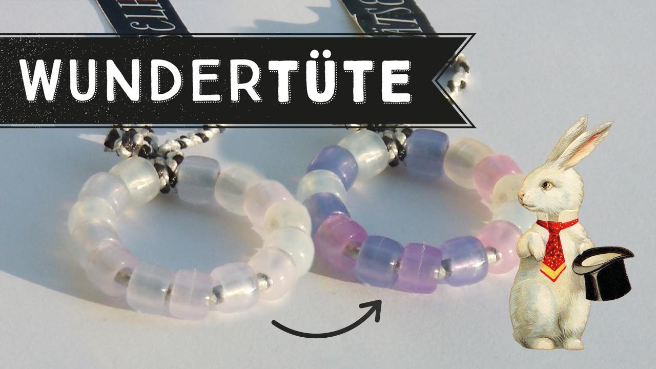 UV-Perlen verändern die Farbe im Sonnenlicht