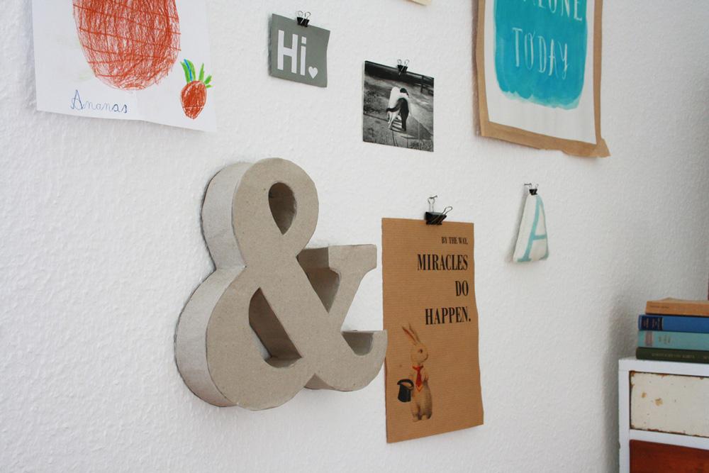 Hallo Piepmatz! DIY Anleitung für grosse Buchstaben aus Klorollen und Pappe [UPCYCLING DIY]
