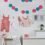 Baby Girlande aus Filzkreisen… ähm Putzlappen! + Free Printable