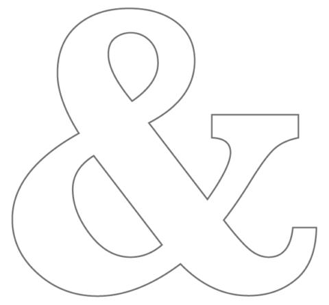 Hallo Piepmatz! DIY Anleitung für grosse Buchstaben aus Klorollen und Pappe [UPCYCLING DIY] &-Zeichen