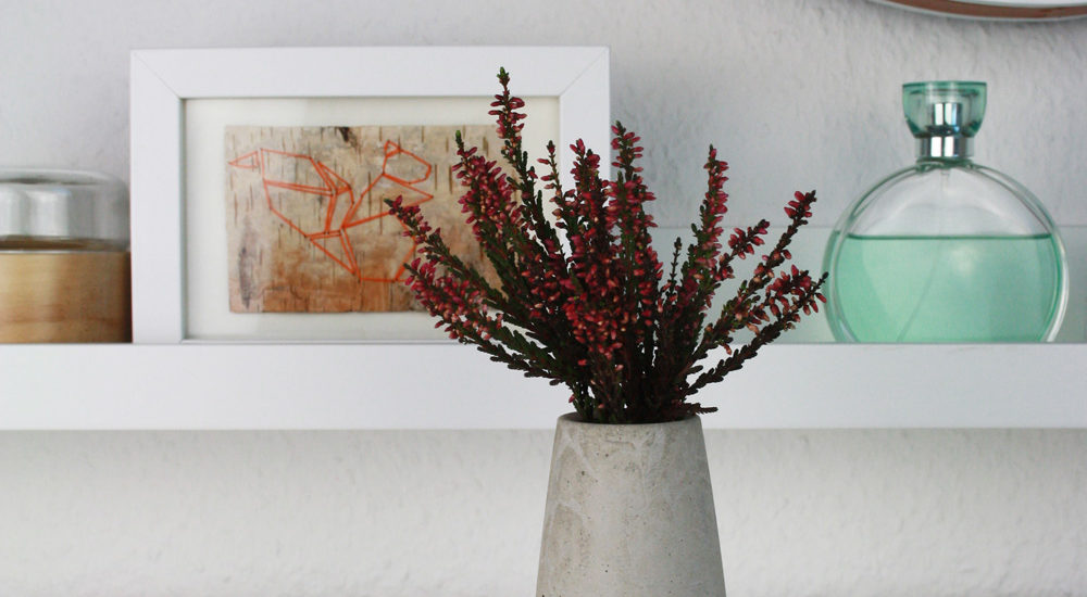 DIY konische Beton Vase mit Kupfer selber machen