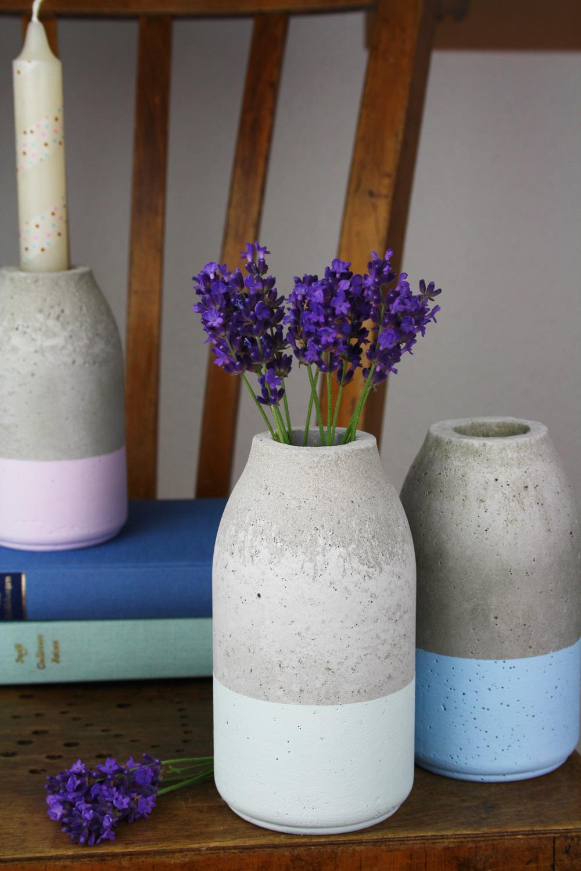 Vasen aus beton herstellen
