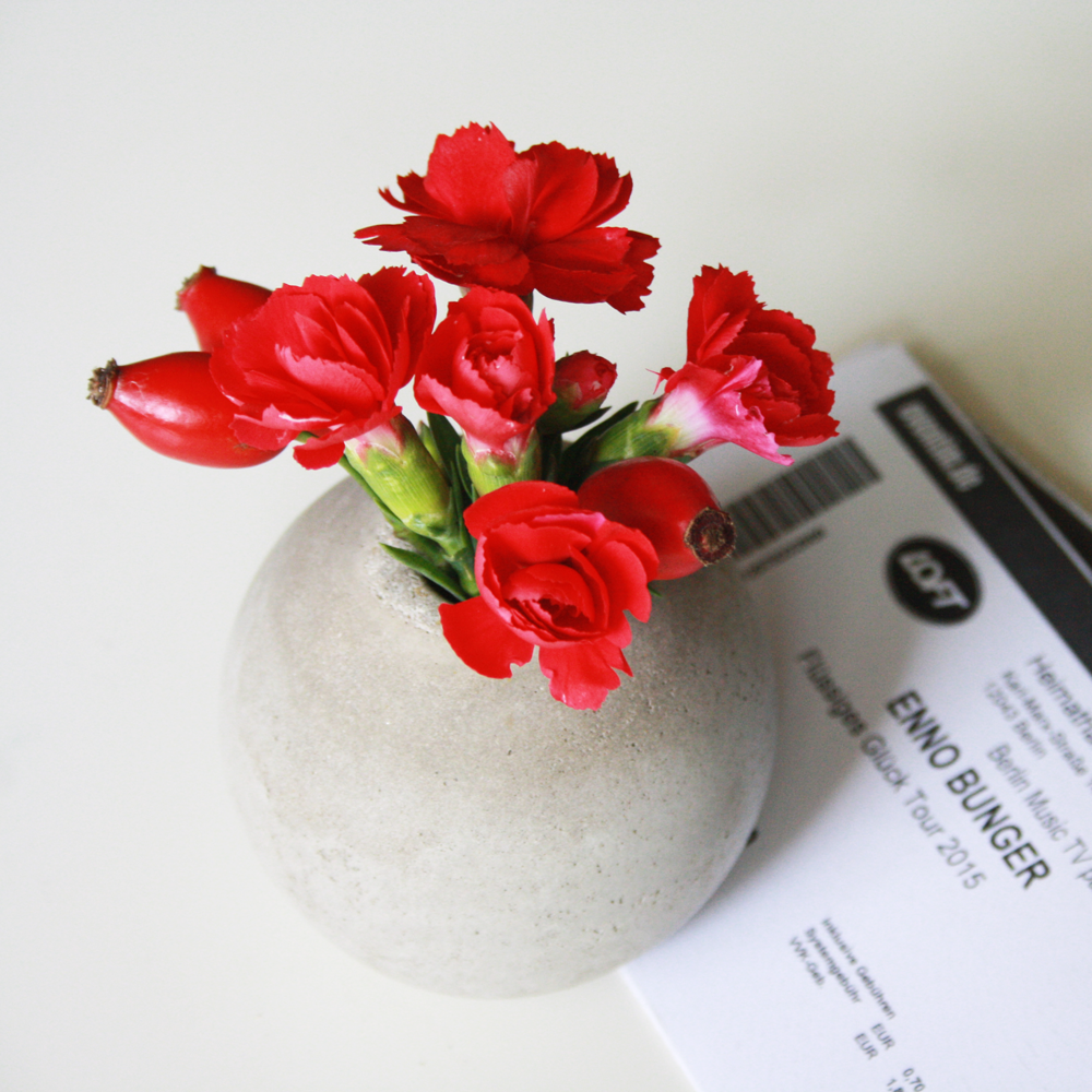 DIY Runde Beton Vase selber machen