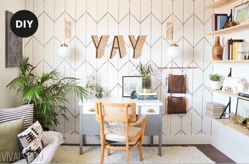 Hallo Piepmatz! Wohntrend Typografie. DIY große Buchstaben aus Holz