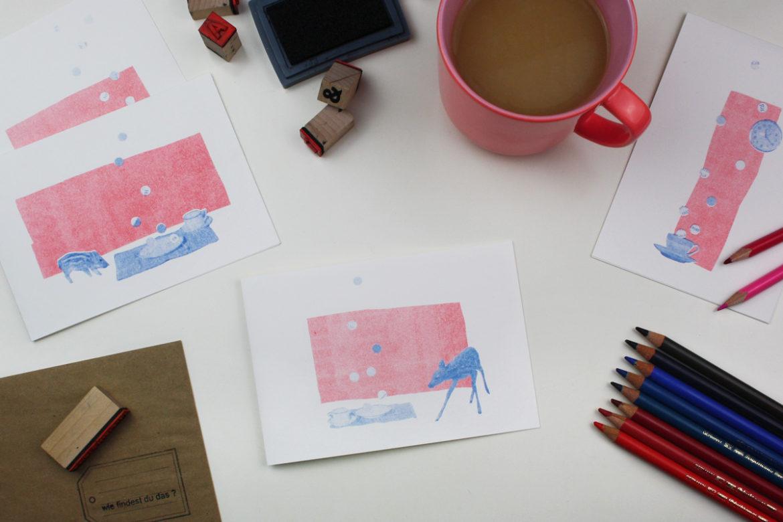 postkarte_collage_illustration_kathleen_gust_riso_druck_valentinstag_handlettering4