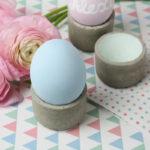 Eierbecher aus Beton einfach selber machen